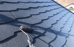スレート屋根塗装 仕上がり